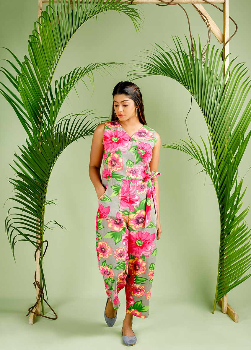 Floral  Basic Jumpsuit