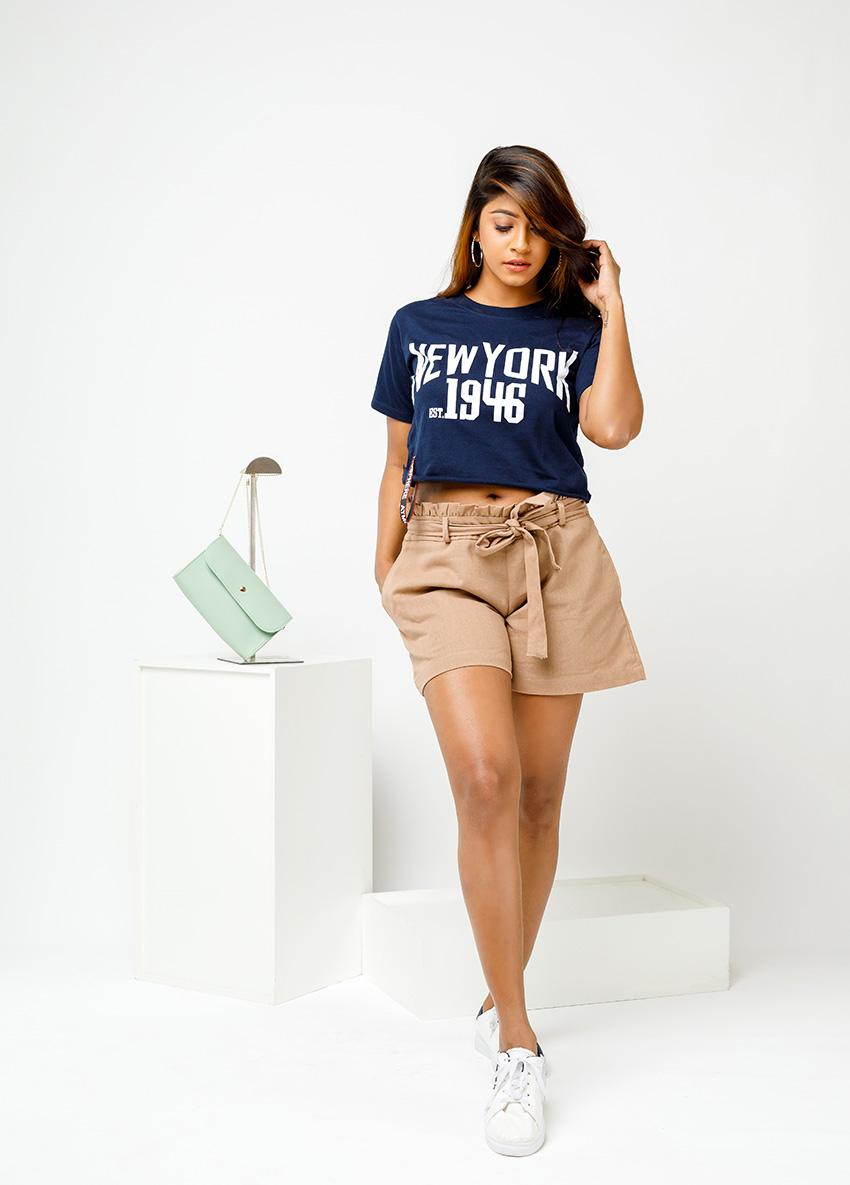 Solid  Regular Shorts