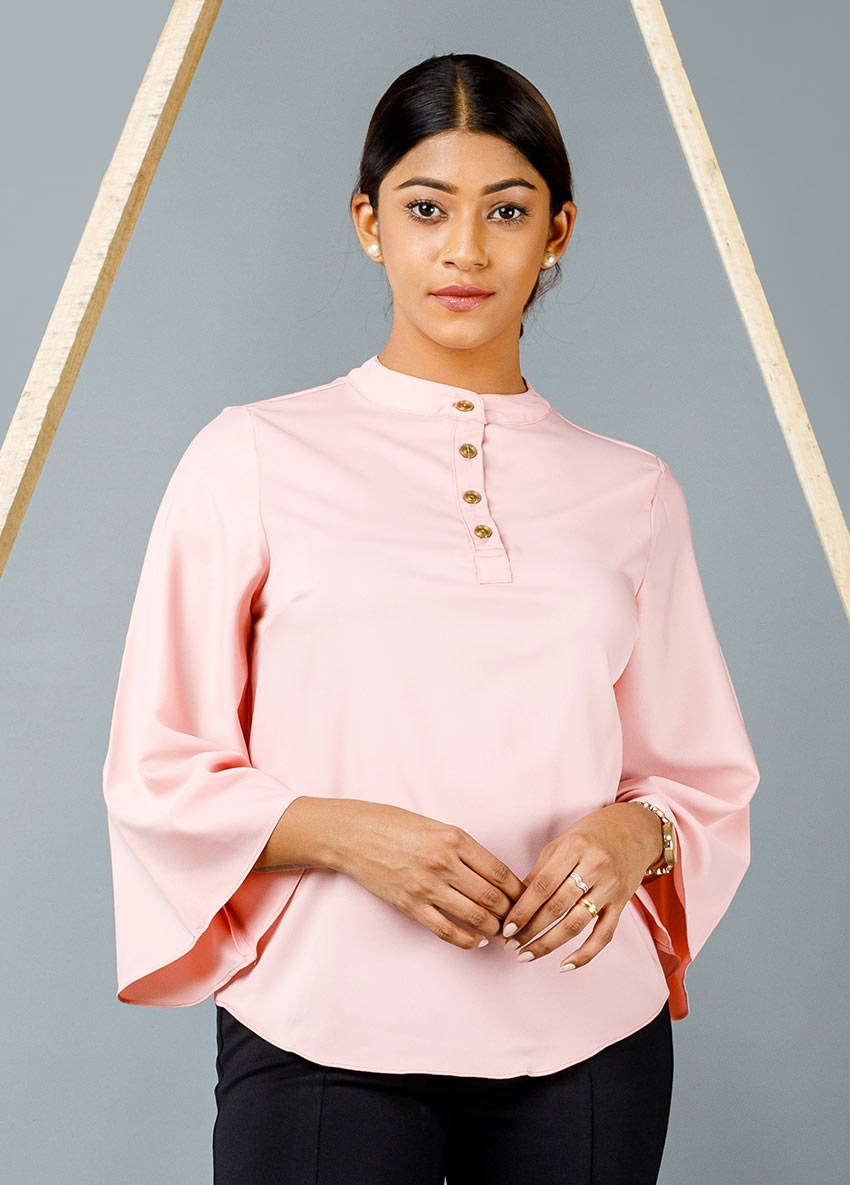 WOMEN PINK COLOUR FORMAL SHIRT STYLE TOP