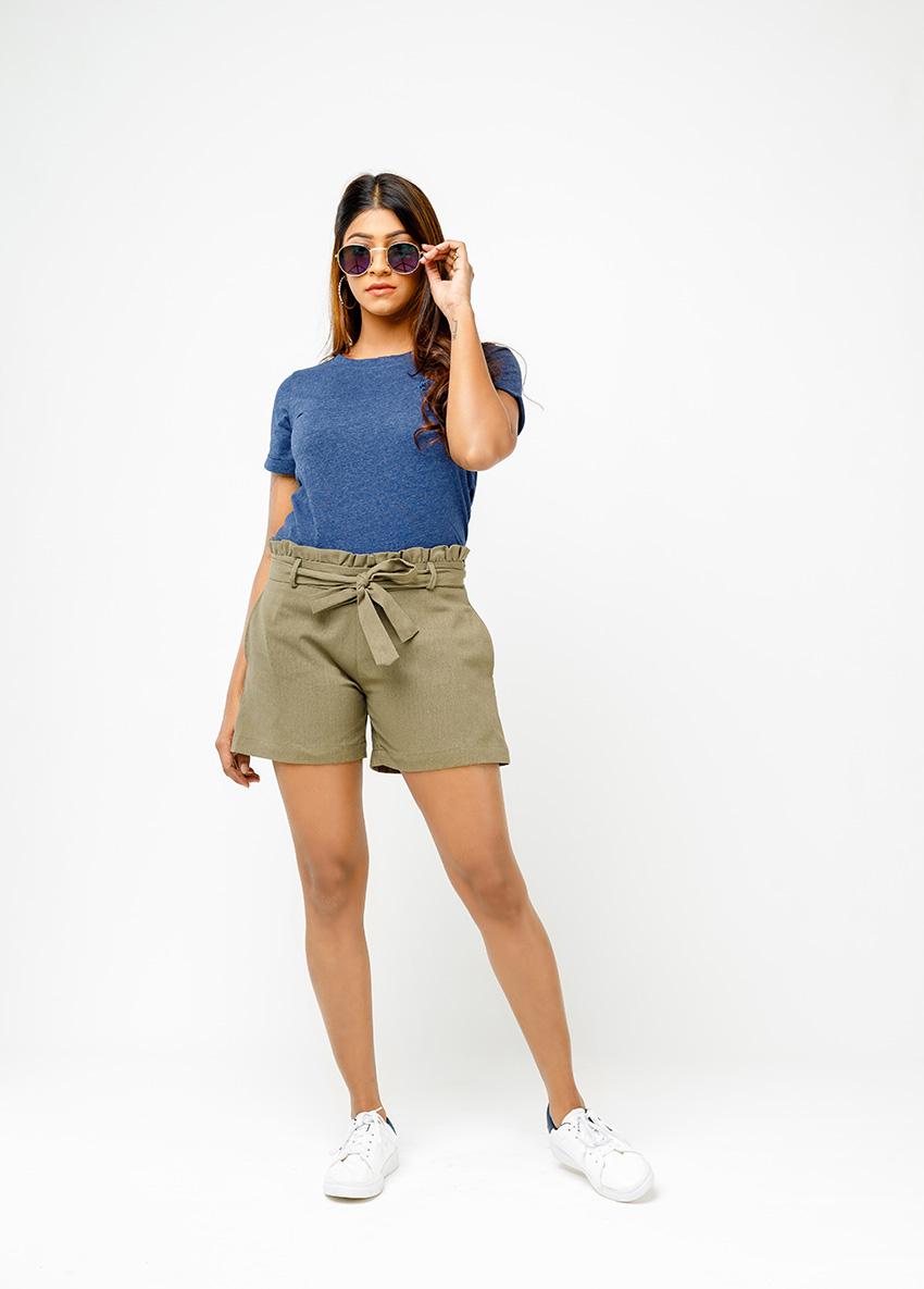 Solid  Regular fit  Shorts