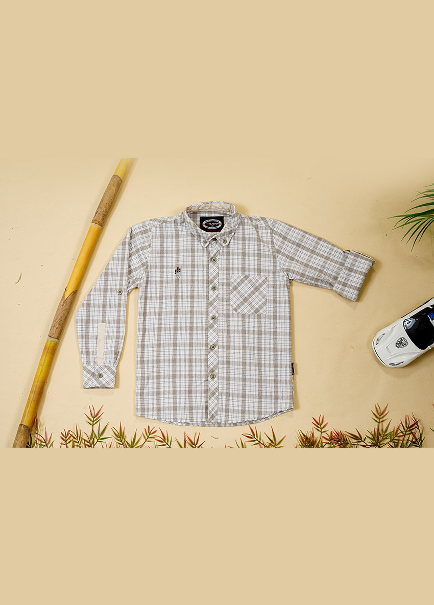 Regular Fit Checked Casual Shirt
