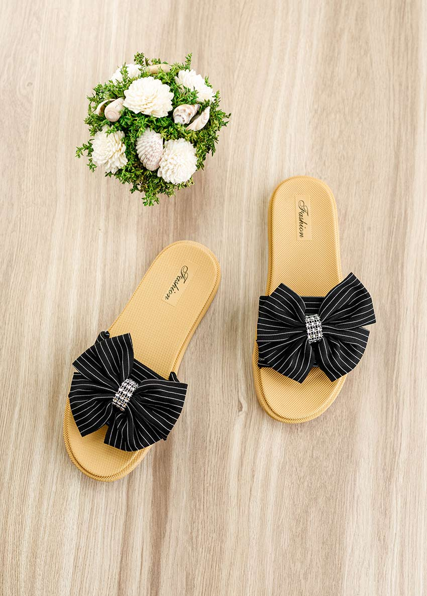 Women Open toe Flats - Fashion - Black