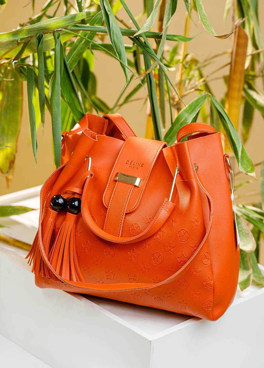 Solid Hand Bag 3 in 1