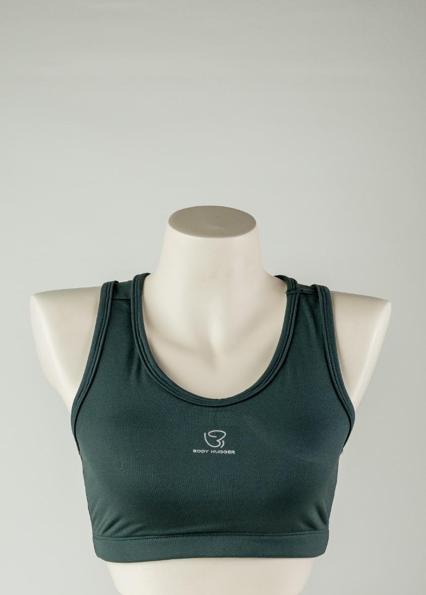 Women's Dark Green  Support Padded Sports Bra