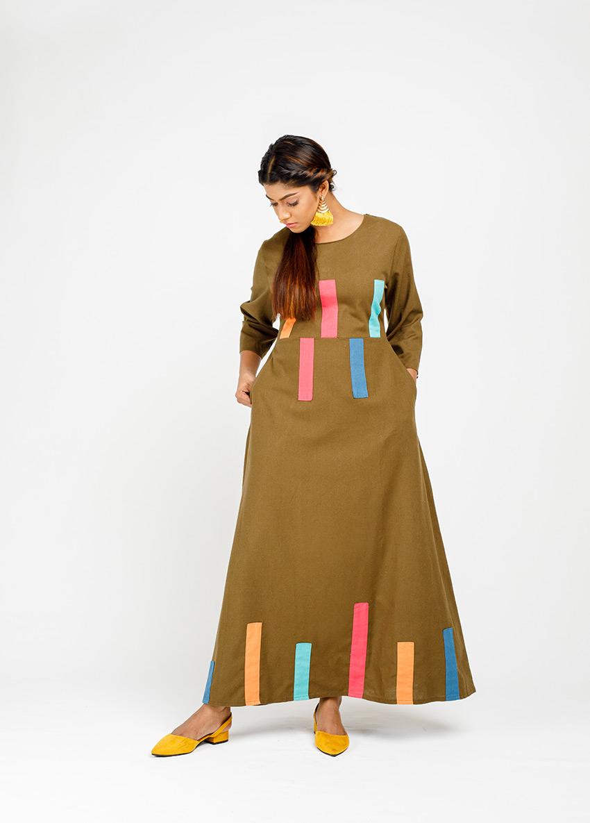 Women Dark green Maxi Dress