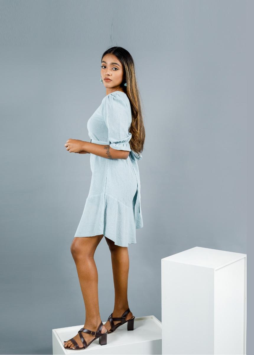 Women's Laurel Green Solid Dress
