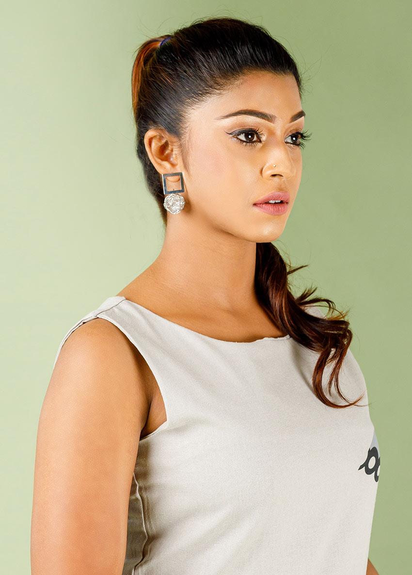 Women Silver  Drop Earrings