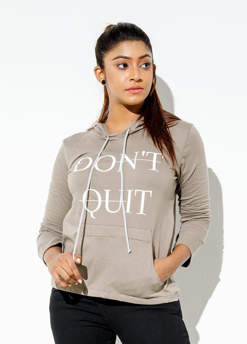 Long Sleeve Printed  Hooded  T-Shirt