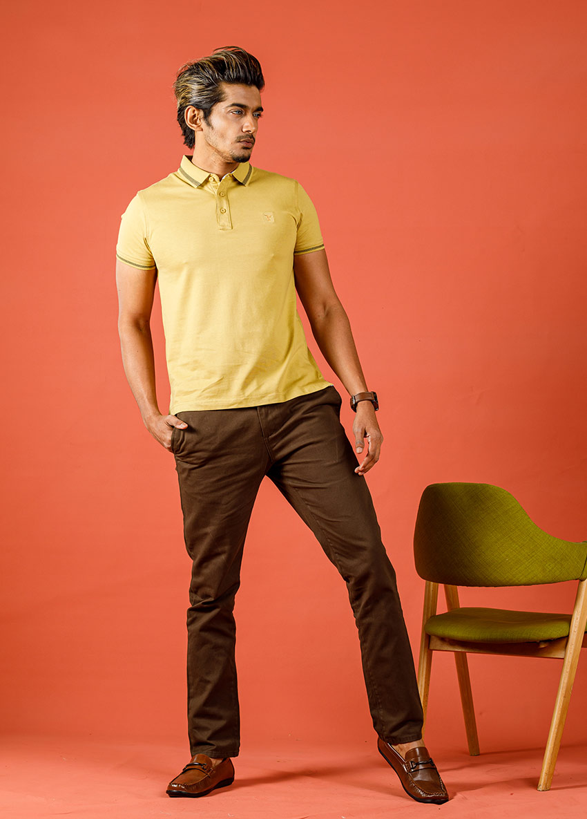 Men Brown Casual Trouser