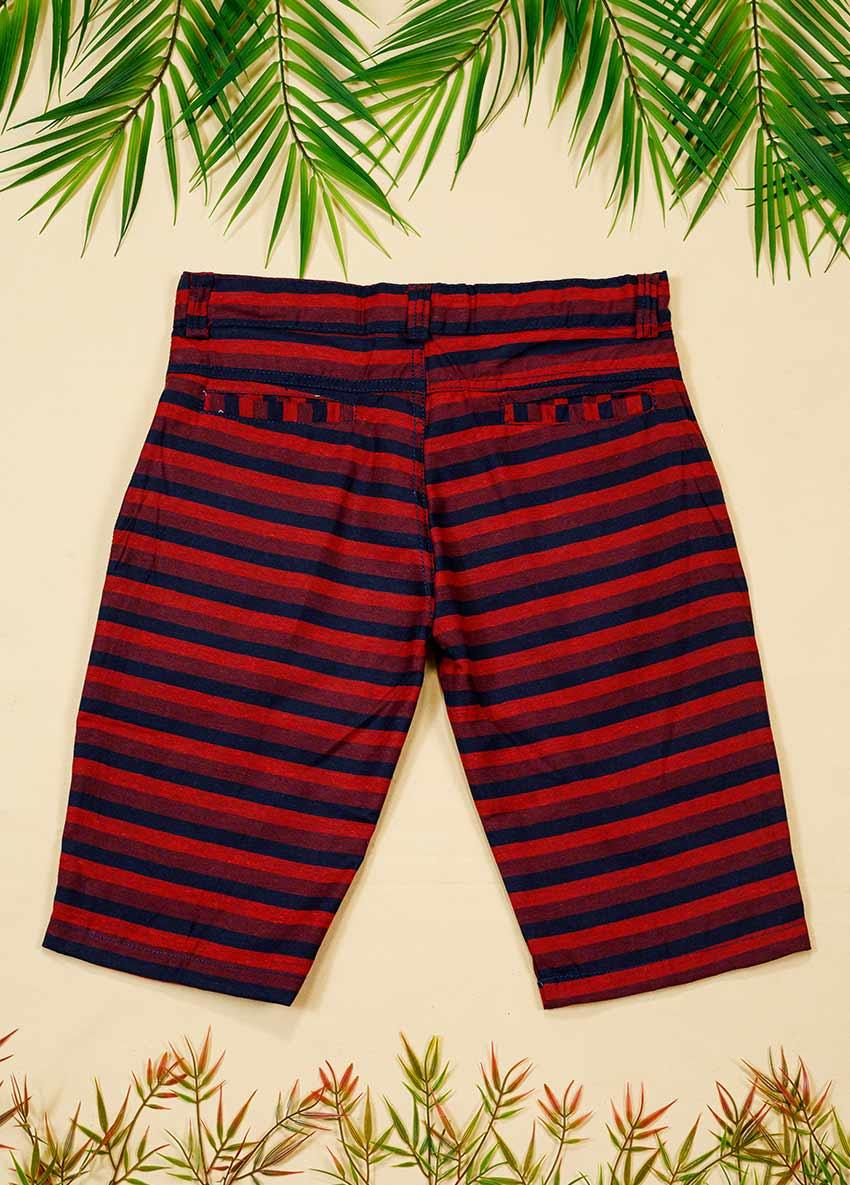 Boys Striped Regular Shorts