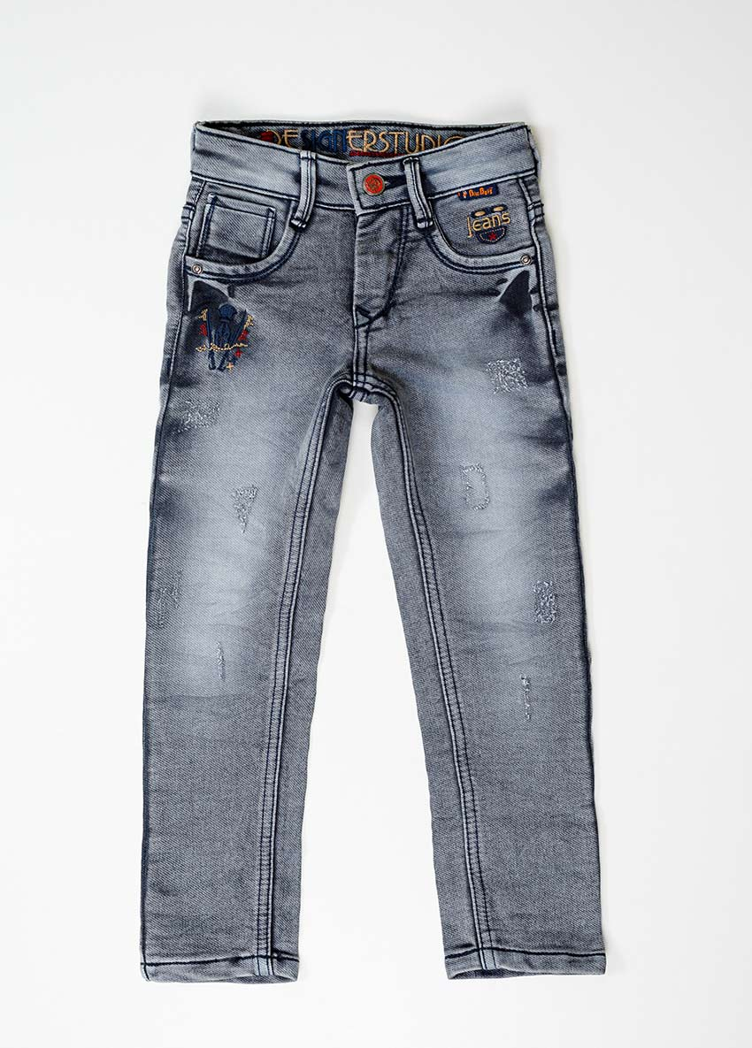Boys Ash Regular Fit Mid-Rise Clean Look Jeans