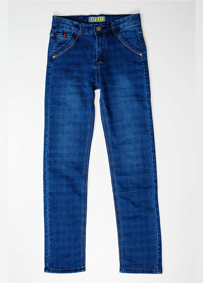Boys Blue Regular Fit Mid-Rise Clean Look Jeans