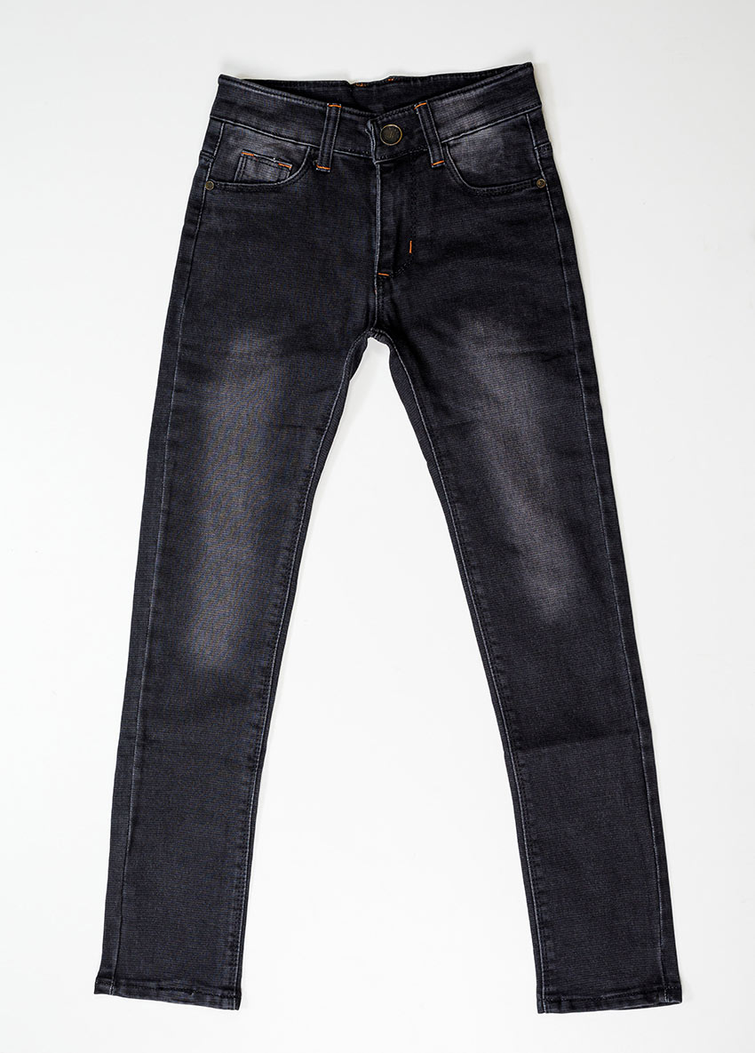 Boys Black Slim Fit Mid-Rise Clean Look Jeans