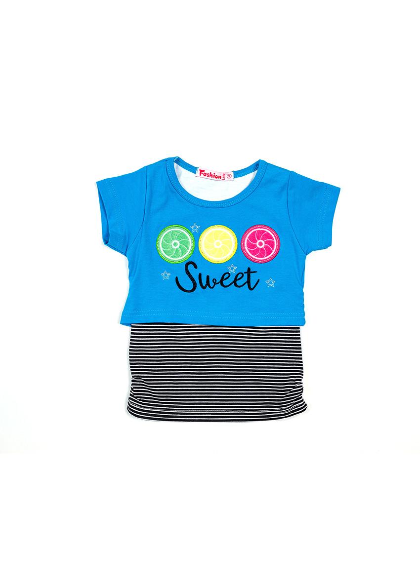 Girls Printed Round Neck T-shirt