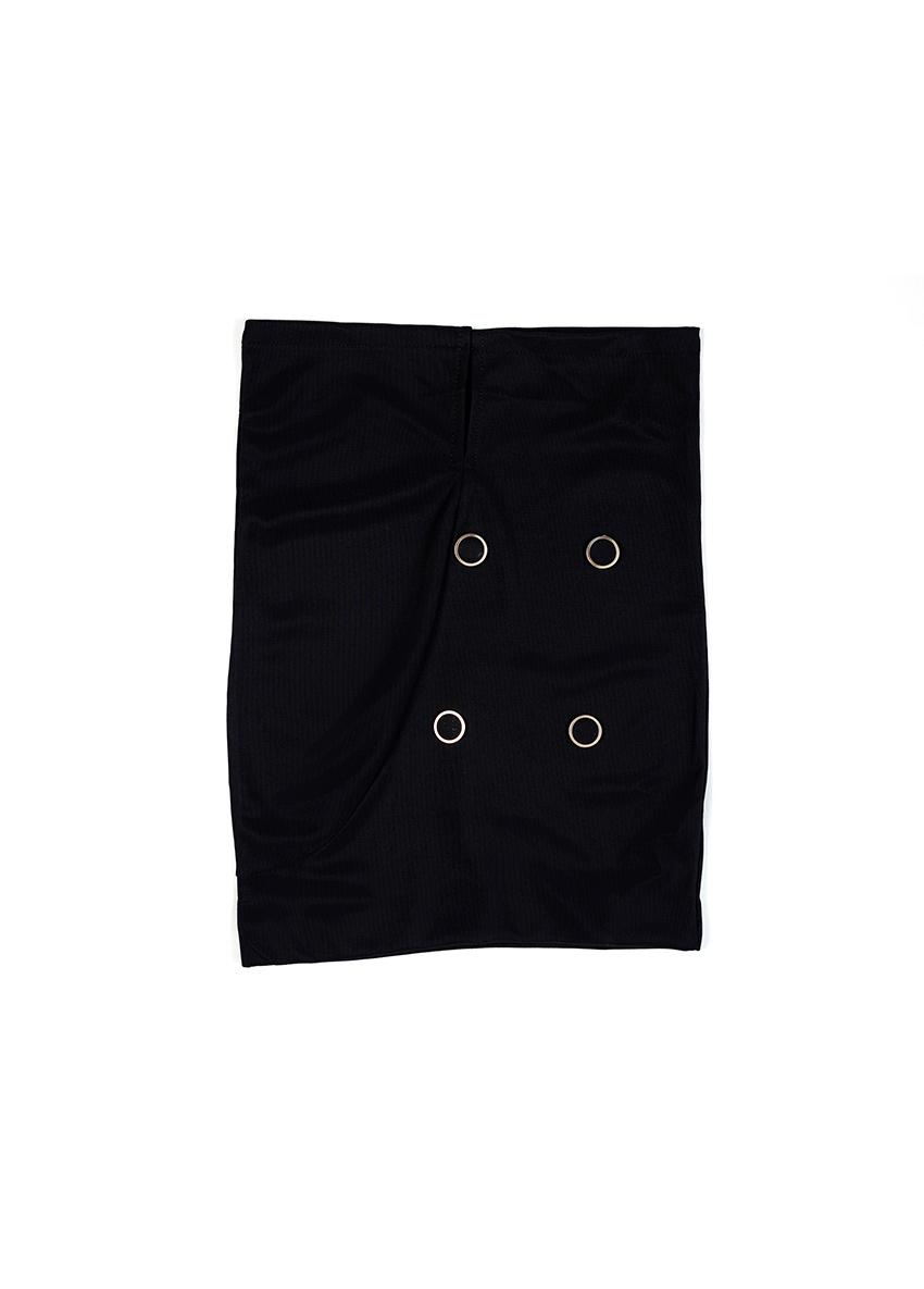 Girls Black Solid Skirt
