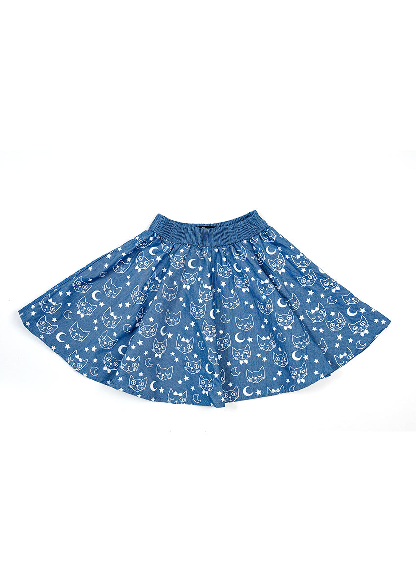 Girls multicolour Flora Printed Regular Fit Regular Skirt