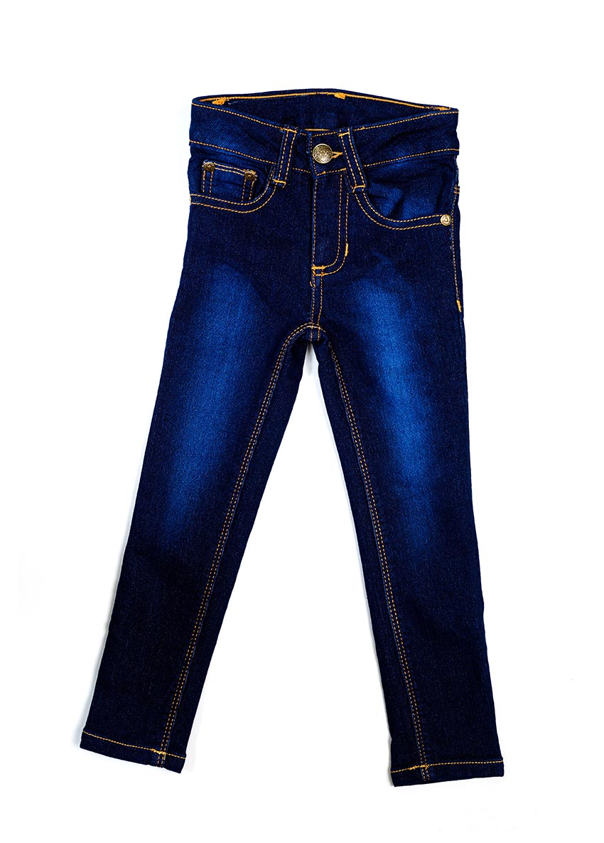 Girls Blue Mid-Rise Clean Look Stretchable Jeans