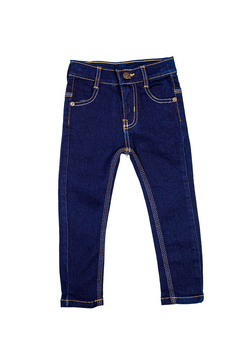 Girls Blue Bootcut Fit Mid-Rise Clean Look Jeans