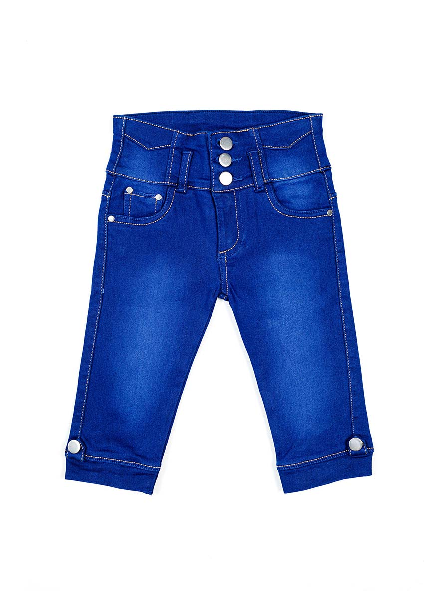 Girls Blue Regular Fit Mid-Rise Clean Look Stretchable Jeans