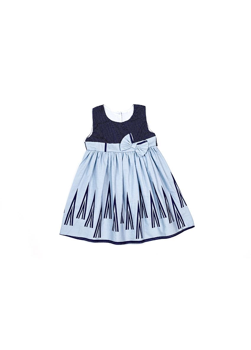 Girls Purple Printed Dress