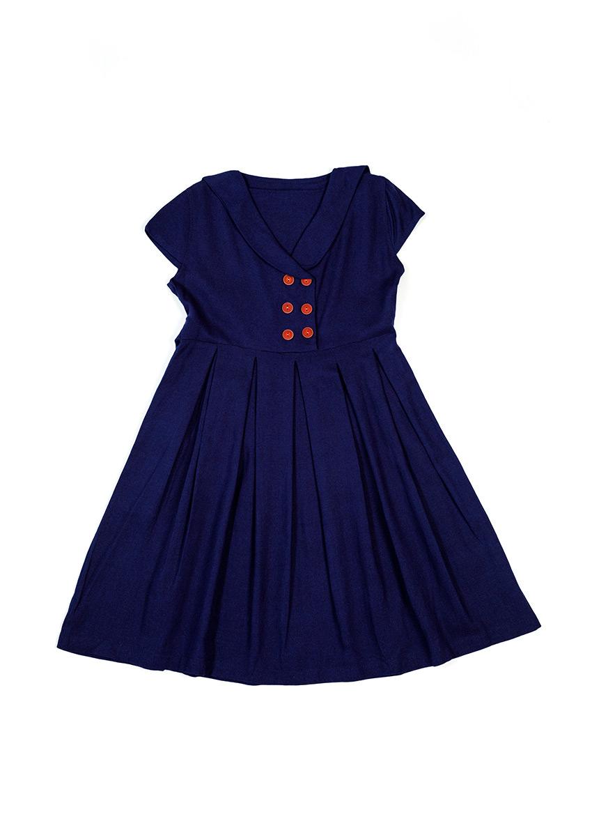 Girls Navy Blue Dress