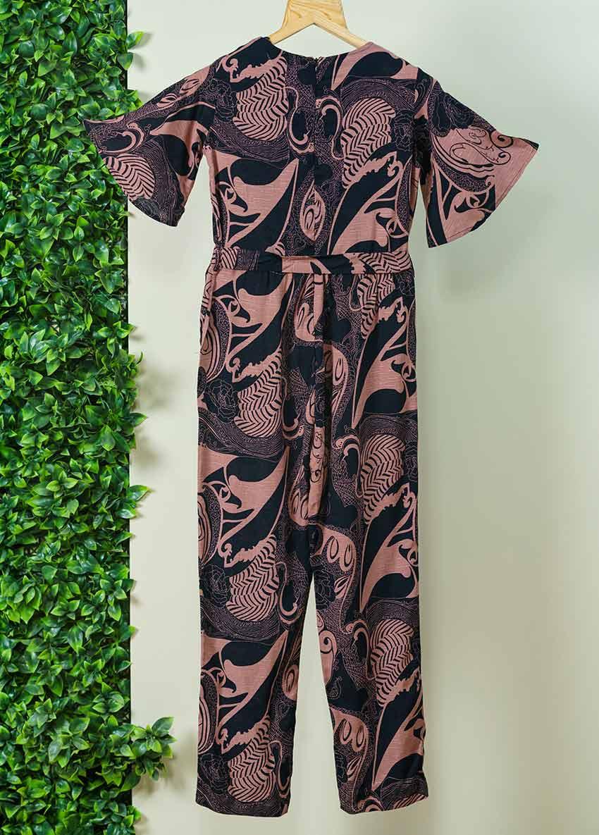 Girls Printed  Basic Jumpsuit