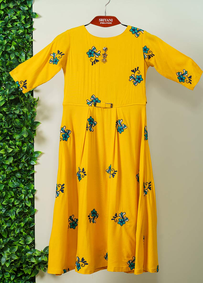 Printed  Yellow Dress