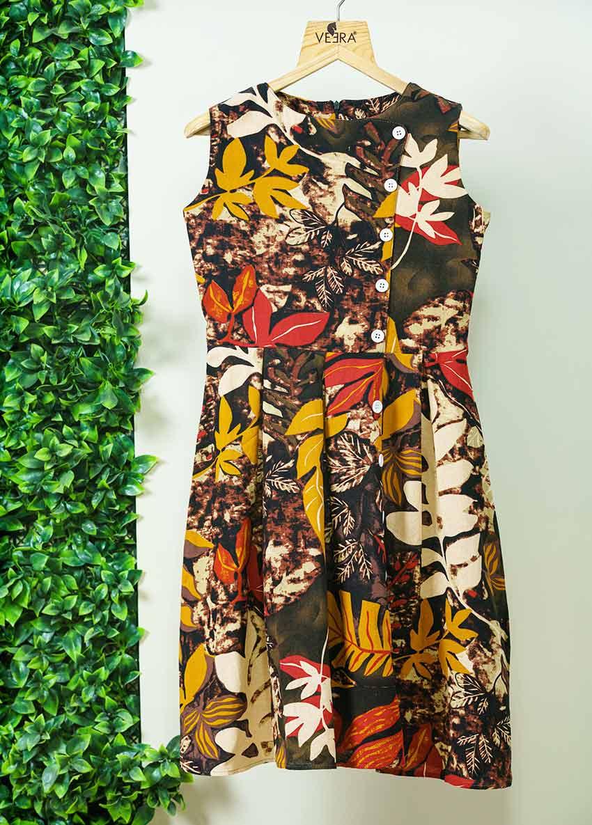 Girls Multicolour Flora Printed Dress