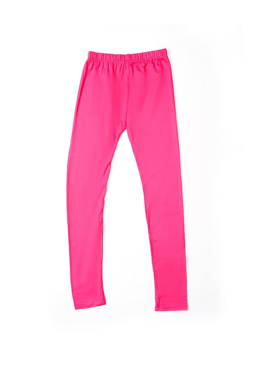 Girls Pink Solid Ankle-Length Leggings
