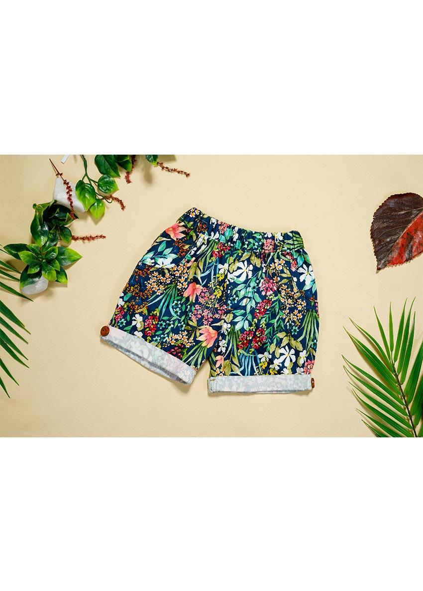 Girls multicolour Flora Printed Regular Fit Regular Shorts