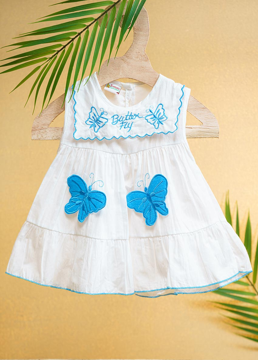 Blue butterfly Dress