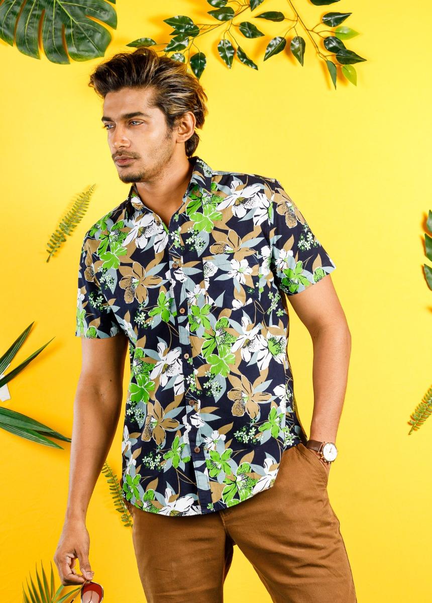 Men multicolor Slim Fit Printed Casual Shirt