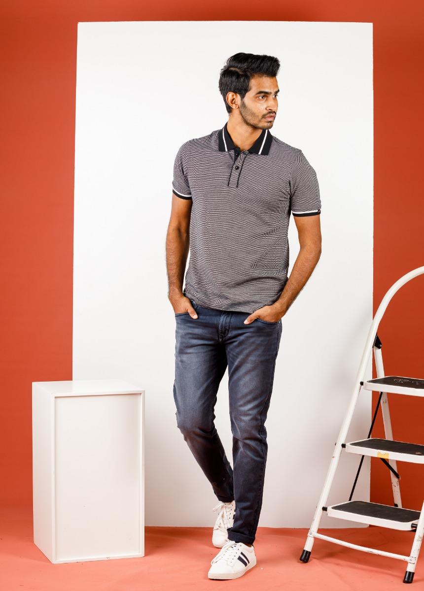 Men Gray Fade Stretchable Jean