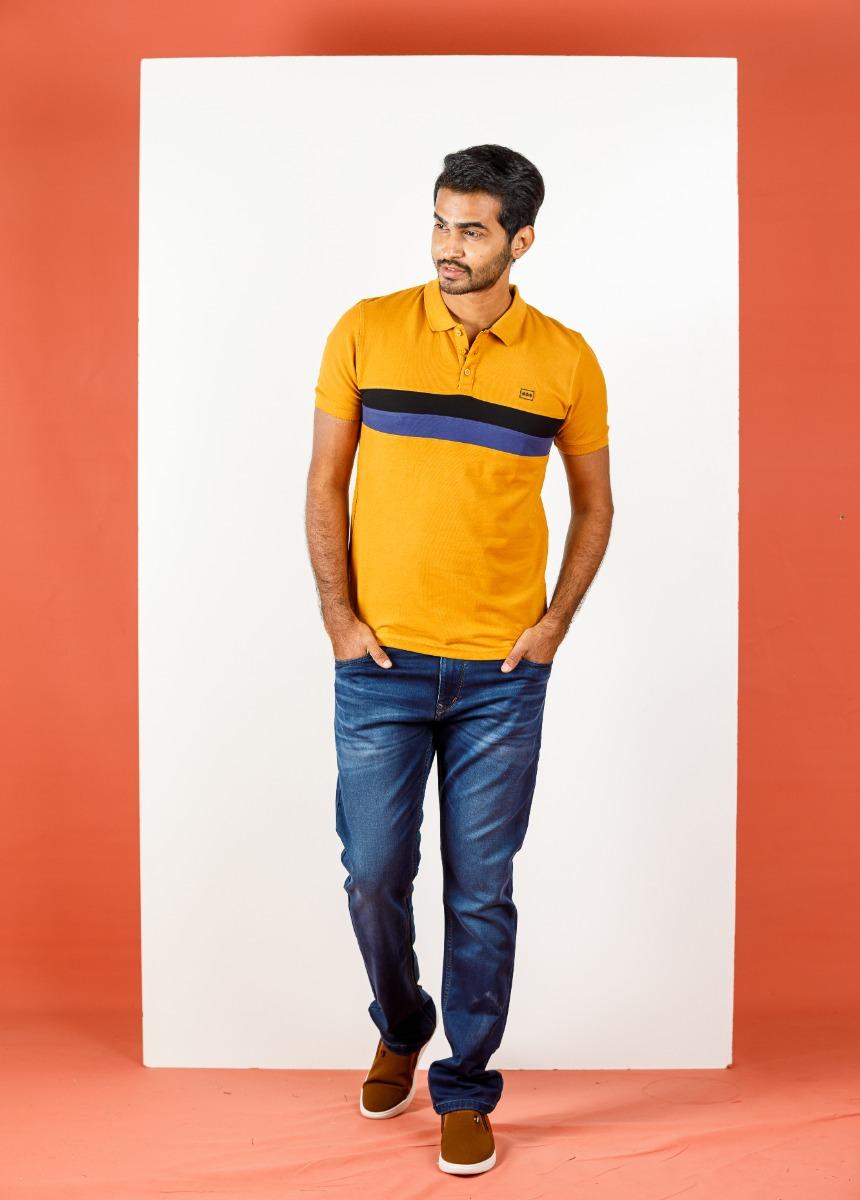 Men Blue Light Fade Stretchable Jean