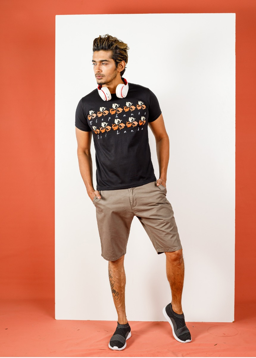 Men Light Brown Solid Slim Fit Chino Shorts