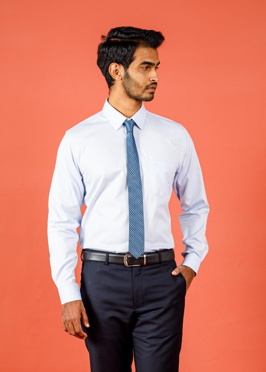 Men's White Slim Fit Formal Shirt