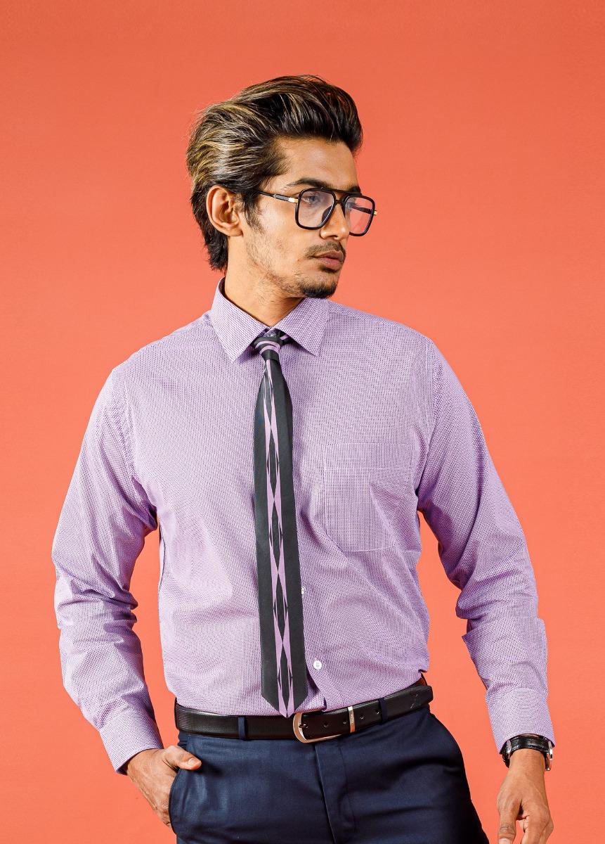 Men's Purple Slim Fit Formal Shirt