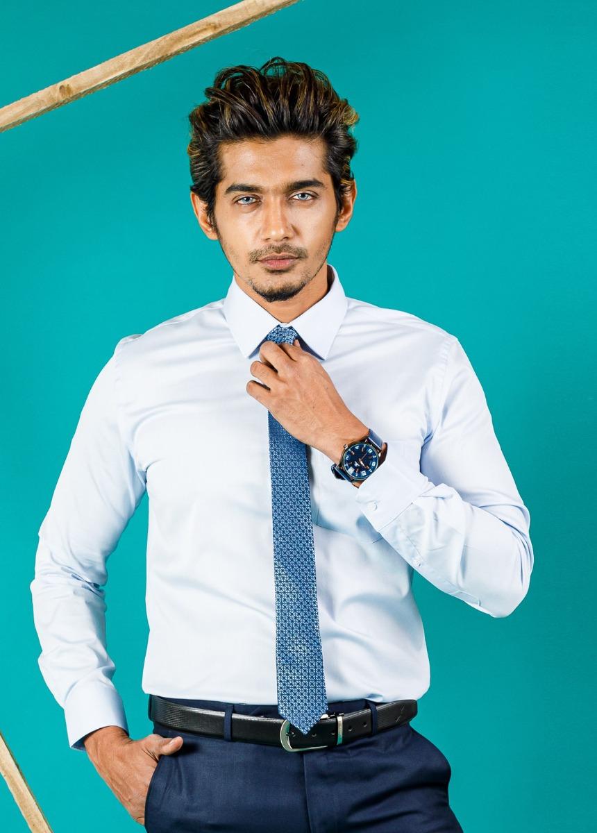 Men's Light Blue Slim Fit Formal Shirt