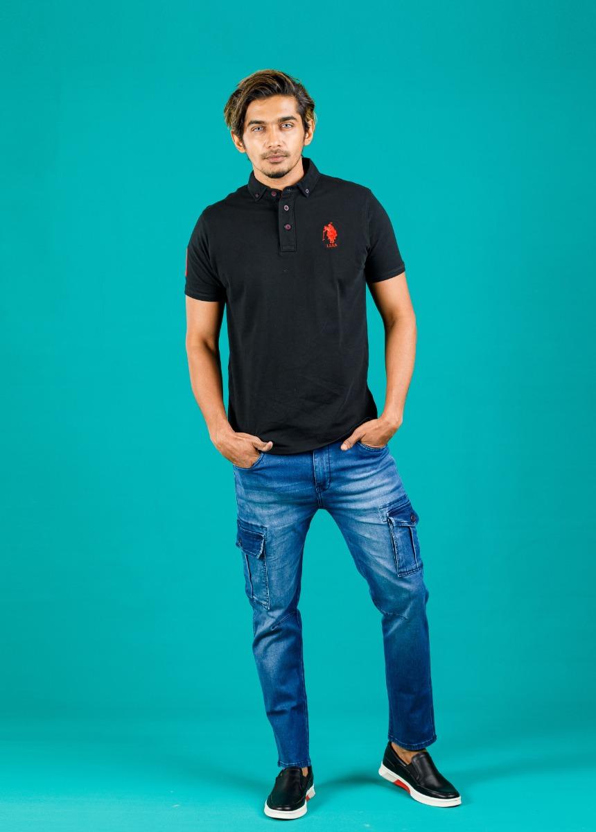 Men Blue Slim Fit Heavy Fade Jeans